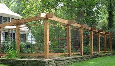 Custom deer fence garden enclosure