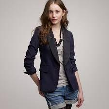 J Crew tuxedo jacket Latest Fashion For Girls, Latest Fashion Clothes, Women's Fashion, Womens Tuxedo Jacket, Tuxedo Jackets, Jacket Style, Shirt Style, J Crew Tuxedo, Blazer Vest