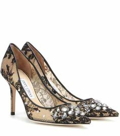 Pumps Lyzo in pizzo con cristalli | Jimmy Choo