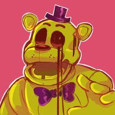 Fnaf Golden Freddy, Freddy 's, Fnaf 4, Anime Fnaf, Five Nights At Freddy's, Rick And Morty Stickers, Fnaf Characters, Fnaf Drawings, Game Art