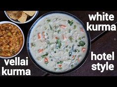 white kurma recipe, white veg kurma, white kuruma with step by step photo/video. creamy variation to the south indian based veg kurma with vegetables. Veg Kurma Recipe, Chaat Recipe, Baby Potato Fry, Breakfast Recipes, Dessert Recipes, Desserts, Food Videos, Recipe Videos, Dessert