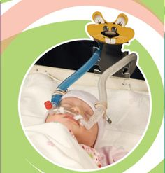 """Gator®. """"The Simple Tube Holder""""; its made specifically for CPAP in the NICU. A fun, easy, and economical way to support vent tubes! #NICU #CPAP #preemie #premature #baby #neonatal #nursing"""