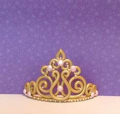 Princess crown tiara cake topper by LuluCupcakecom on Etsy