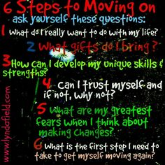 6 steps to moving on