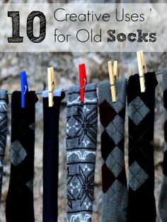 Looking for ways to reuse your worn out or mismatched socks? Try these 10 Creative Uses for Old Socks to put them to good use around the house.