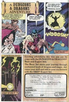 Crunchy Dice - An RPG Blog: TSR Dungeons and Dragons comic book advertisements - Page 8 of 8