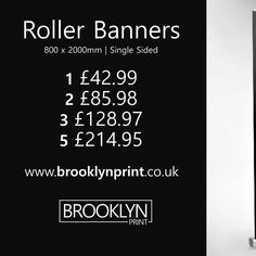 Want your business to rise above the competition this #Christmas? Check out our Roller Banners on our website! From 42.99 including FREE UK DELIVERY and a personal client manager to ensure you receive smile inducing results. #ThinkBrooklynPrint