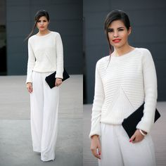 Choies Sweater, Zara Trousers, 3.1 Phillip Lim Neoprene Clutch, Make Up Tutorial For This Look