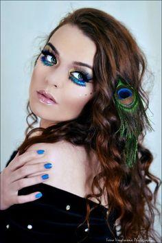 Photographer Irena Vondrasova Model Mary Jane Folan  Make-up Maegan's Make-up Peacock Beauty Shoot