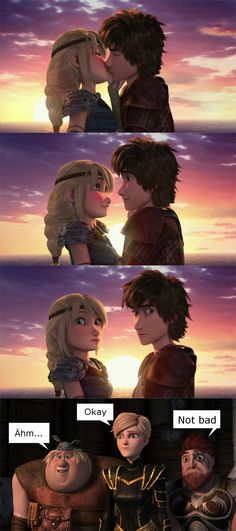Hiccup and Astrid kissing Httyd Dragons, Dreamworks Dragons, Disney And Dreamworks, Dragon 2, Hicks Und Astrid, Black Spiderman, Hiccup And Astrid, Romantic Manga, Dragon Trainer