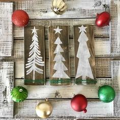 Christmas Tree Set Christmas Tree Set, Wooden Christmas Trees, Christmas 2019, Christmas Decorations, Holiday Decor, Bedroom Images, Bedroom Pictures, Bedroom Ideas, Farmhouse Interior