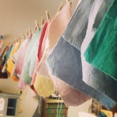 Annie Sloan dyed drop cloths at Peinture in Costa Mesa.