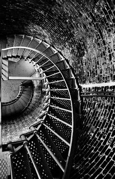 Stairs at Cape Blanco  Lighthouse in Oregon