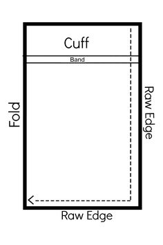 French seam pillowcase diagram