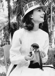 Audrey Hepburn on set of A Nun's Story