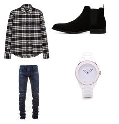 """Untitled #599"" by jamiesowers14 on Polyvore featuring Dsquared2, Balmain, ALDO, men's fashion and menswear"