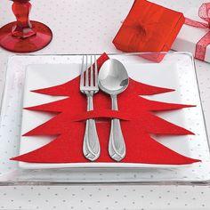 Uma ideia para a mesa do Natal. De feltro! AQUI