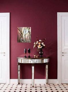 New Dark Bedroom Furniture Decor Ideas Wall Colours 25 Ideas Decor, Furniture Decor, Burgundy Walls, Kitchen Wall Colors, Interior, Home Art, Wall Colors, Home Decor, Bedroom Colors