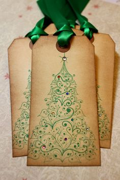 Vintage+Inspired+Holiday+Tags++Christmas+Tree++by+JacquelynVaccaro,+$7.50