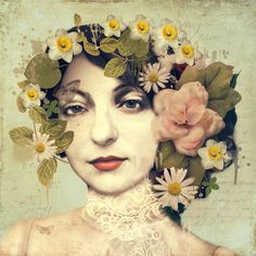 ⊰ Posing with Posies ⊱ paintings of women and flowers - Sarah Jarrett   ArtisticMoods.com