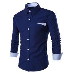 Men's Clothing Eton Contemporary Blue Stripe Long Sleeve Shirt 15 1/2 Trunk Club Latest Technology