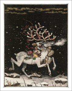 Illustration to Hans Christian Andersen's 'The Snow Queen'. Hans Gretel, Andersen's Fairy Tales, Snow Maiden, Princess And The Pea, Queen Art, Snow Queen, Ice Queen, Winter Solstice, Fantastic Art