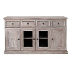 Whitewashed Archer Buffet has a summer appeal, $1,599.00 #ZGallerie