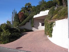 Alpine Rose sett pavement for a private ramp access. Pavement, Sidewalk, Rose, Pink, Roses, Curb Appeal, Curb Appeal