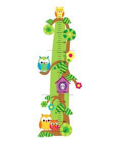 Look what I found on #zulily! Owl Wooden Growth Chart #zulilyfinds