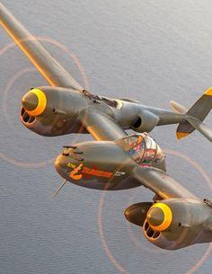 """TANGERINE"" (#5781) Lockheed F-5G-6-LO Lightning (Sn 44-27083) (N2114L) Operated by Tillamook Air Museum, Tillamook, Oregon (1995-2006)"