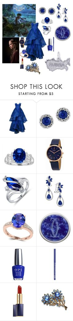 """Arkona"" by giulia-ostara-re ❤ liked on Polyvore featuring Nedret Taciroglu Couture, Effy Jewelry, DKNY, Peermont, OPI, NYX, Estée Lauder and Rembrandt Charms"