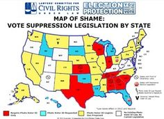 Well this is just awful —voter suppression legislation by state #map #infographic