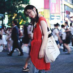 渋谷でスナップさせていただいたモデルの RUKO (るうこ) さん。