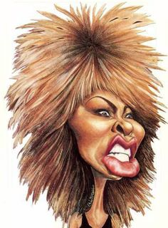 Caricature Tina Turner  #art #Caricature #cool