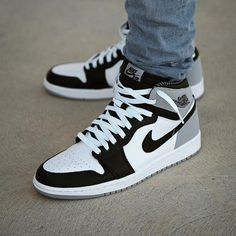the best attitude e9f38 e5440 Air Jordan 1 Retro High OG Baron Basket Haute Homme, Shoes Sneakers, Air  Jordan