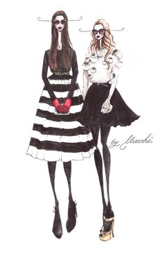 Illustration.Files: Street Style Fashion Illustrations by Mariana MARCHÉ | Draw A Dot.