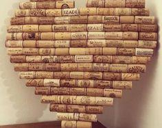 Pizarra de corcho de corcho de vino por HandThought en Etsy