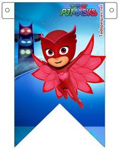 Banderines de Pj Masks o Héroes en Pijamas para descargar gratis   Todo Peques