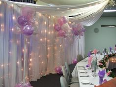 Enchanted Weddings from WEDDING ELEGANCE: Arabrian Night Backdrop with Cloud Nine Balloon Backdrop
