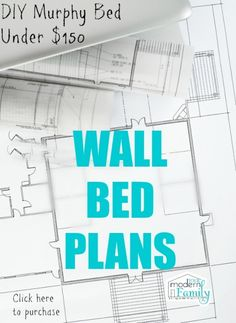 Build A Murphy Bed, Murphy Bed Ikea, Murphy Bed Plans, Camas Murphy, One Room Apartment, Apartment Therapy, Dorm Room, Hideaway Bed, Modern Murphy Beds