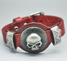 Men jewelry bracelets bangles Genuine Leather SKull Studs Genunine Leather bracelets for women
