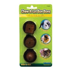 $4.92-$1.74 This decadent candy shaped wood chew is made of all natural pine. Small pets can toss, chase, nibble and gnaw for hours of chewtime fun. Wood chews help keep teeth trimmed and healthy and encourage playtime activity which helps relieve cage boredom. Fits ware treat-k-bob. Measures 4-inch width by 1-1/2-inch depth by 7-3/4-inch height.