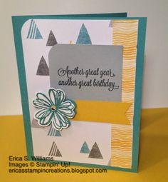 Erica's Stampin Creations: Another Great Year, 2014-2015 In Colors, Moonlight Designer Series Paper, MOJO Monday 348