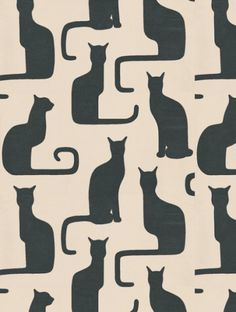 Omega Cats (211065) is taken from Sanderson's Bloomsbury wallpaper collection.
