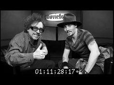 Johnny and Tim Tim Burton Johnny Depp, Here's Johnny, Beautiful Men, Album, Black And White, Cute Guys, Black N White, Black White, Card Book