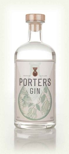 Porter's Gin Gin Bottles, Vodka Bottle, Gin Festival, Cassia Bark, Juniperus Communis, Scottish Gin, Gins Of The World, Gin Brands, Geneva