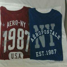 WEEKEND  SALE.   2 AEROPOSTALE  Tee  Shirts Like  New,Very  good  condition. AEROPOSTALE  Tops Tees - Short Sleeve