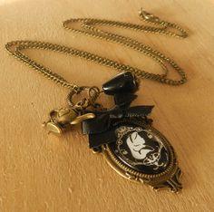 Image of Gorgeous Gothic ~Alice In Wonderland~ Charm Necklace Alice In Wonderland, Pocket Watch, Gothic, Charmed, Necklaces, Pendant Necklace, Accessories, Image, Jewelry