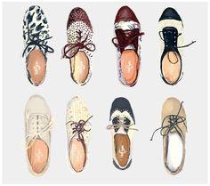 Love these shoes reinterpreted through illustration.  Carolina Astaburuaga Shoe Illustration (interpretation)
