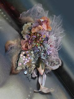 Fragile spring brooch  ethereal bold ornate brooch